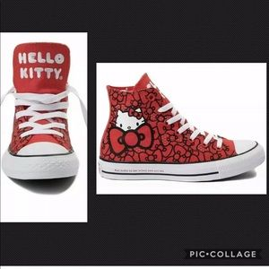 Converse Hello Kitty All Stars Size 8 Red